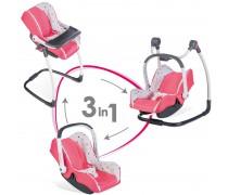 Lėlės nešioklė, maitinimo kėdutė, sūpynė | 3in1 Maxi Cosi | Smoby