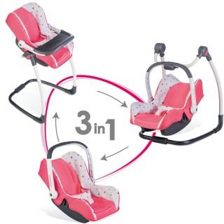 Lėlės nešioklė, maitinimo kėdutė, sūpynė | 3in1 Maxi Cosi | Smoby 240230