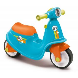 Paspiriamas mėlynas balansinis dviratis motociklas   Scooter   Smoby 721001