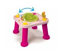 Rožinis vaikiškas daugiafunkcis veiklos stalas | 2 in 1 | Smoby