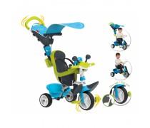 Vaikiškas mėlynas triratukas | Baby Driver | Smoby