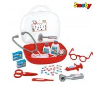 Vaikiškas gydytojo lagaminas su priedais 13 vnt | Smoby 340100