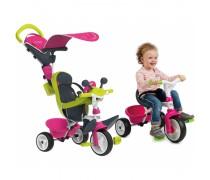 Vaikiškas rožinis triratukas | Baby Driver | Smoby 741201