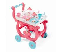 Vežimėlis su padėklu ir indų rinkiniu 17 vnt. | Disney Princess | Smoby 310572