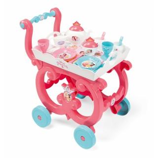 Vežimėlis su arbatos indų rinkiniu ant padėklo | Disney Princess | Smoby