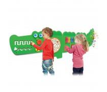 Daugiafunkcis medinis sieninis žaidimas | Krokodilas 175 cm | Viga 50346
