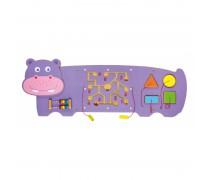 Daugiafunkcis medinis sieninis žaidimas | Begemotas | Viga Toys