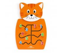Daugiafunkcis medinis pakabinamas sieninis žaidimas | Katinas | Viga 50676