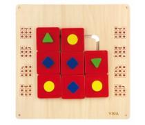 Daugiafunkcis medinis pakabinamas sieninis žaidimas | Labirintas | Viga 50435