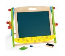 Dvipusė medinė magnetinė piešimo lenta | Viga Toys