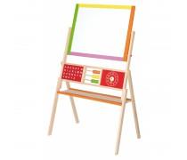 Dvipusė medinė mokomoji piešimo lenta | Viga 50951