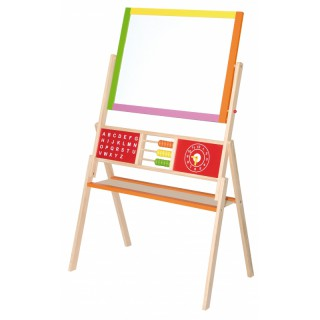 Dvipusė medinė mokomoji piešimo lenta | Viga Toys