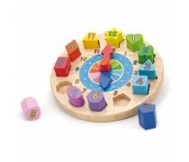 Edukacinis laikrodis | kaladėlių rūšiuoklis | Viga Toys
