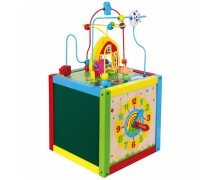 Vaikiškas medinis lavinamasis kubas 5in1 | Viga Toys