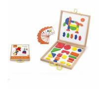 Medinis magnetinis galvosūkių žaidimas lagamine | Viga Toys