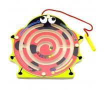 Medinis magnetinis žaidimas-labirintas | Boružėlė | Viga Toys