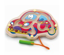 Medinis magnetinis žaidimas labirintas | Mašinėlė | Viga Toys