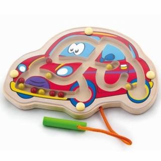 Medinis magnetinis žaidimas labirintas | Mašinėlė | Viga