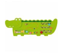 Daugiafunkcis medinis pakabinamas sieninis žaidimas | Krokodilas | Viga 50469