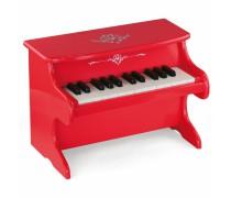 Vaikiškas medinis raudonas pianinas | Viga 50947