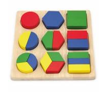 Medinė geometrinių figūrų dėlionė | Viga 58573