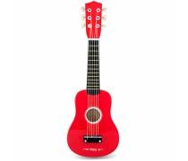 Medinė gitara vaikams | Raudona 21 coliai 6 stygos | Viga 50691