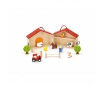 Medinė gyvūnėlių ferma su figūrėlėmis | Viga 51618