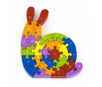 Medinė dėlionė 3D - Sraigė | Puzzle | Viga 55252