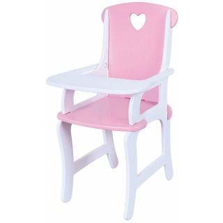 Rožinė medinė maitinimo kėdutė lėlei   Viga 59512