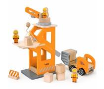 Medinė statybų aikštelė su priedais | Viga Toys