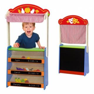 Medinė vaikiška parduotuvė-teatras | 2in1 | Viga 50949