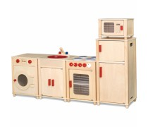 Vaikiška didelė medinė virtuvėlė | Natural | Viga 50997