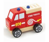 Medinės kaladėlės | Gaisrinės mašina | Viga Toys