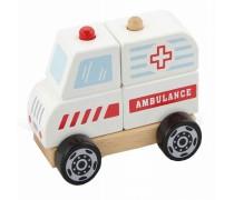 Medinės kaladėlės | Greitosios pagalbos mašina | Viga Toys