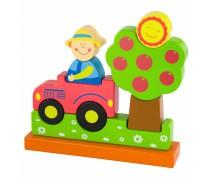 Medinės kaladėlės - magnetukai | Ferma | Viga Toys