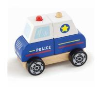 Medinės kaladėlės | Policijos mašina | Viga Toys