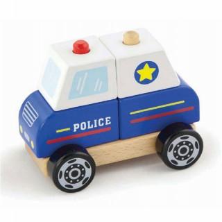 Medinės kaladėlės   Policijos mašina   Viga 50201