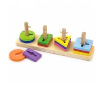 Medinės kaladėlės - rūšiuoklis | Viga toys