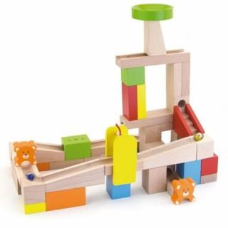 Medinės kaladėlės su rutuliukų labirintu | Viga 51619