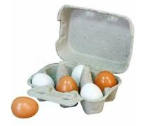 Žaisliniai 6 mediniai kiaušiniai | Viga 59228