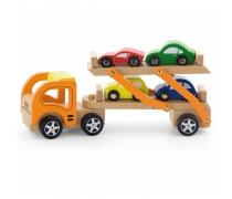 Medinis autovežis su mašinėlėmis | Viga Toys