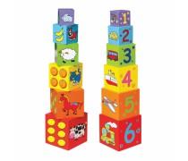 Medinis edukacinių kaladėlių komplektas | Viga Toys