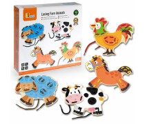 Medinis galvosūkis-dėlionė | Suvarstykime gyvūnus | Viga Toys