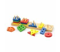 Medinis kaladėlių rinkinys-rūšiuoklis | Viga Toys