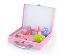 Vaikiškas medinis kosmetikos lagaminas su priedais | Viga 50531