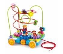 Medinis labirintas-mašinėlė | Viga Toys