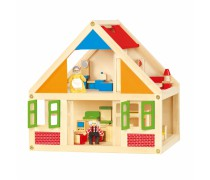 Medinis lėlių namas | Senelės ir senelio | Viga