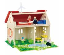 Medinis lėlių ekologiškas namas-kotedžas | Viga Toys