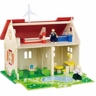 Medinis lėlių ekologiškas namas-kotedžas | Viga