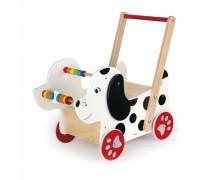 Medinis lėlių vežimėlis | Šuniukas | Viga